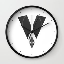 """Tao """"Letter V"""" Wall Clock"""