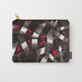 Striped Snake Carry-All Pouch