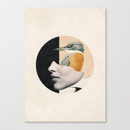 collage art / bird Canvas Print