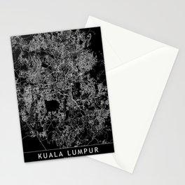 Kuala Lumpur Black Map Stationery Cards