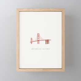 Golden Gate Bridge, San Francisco, California Framed Mini Art Print