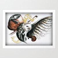violin Art Prints featuring violin by NicolasGabrielArt