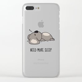 Need More Sleep Clear iPhone Case