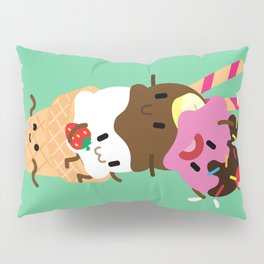 Neapolitan Ice Cream Pillow Sham