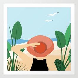 Beach Jungle Safari Art Print