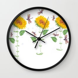 North little rock City Sunflower hope love Gifts For Men Women Wall Clock