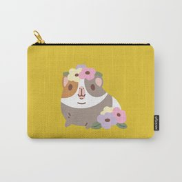 Guinea pig and flowers Carry-All Pouch