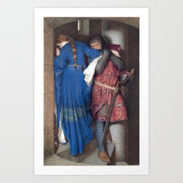 Hellelil and Hildebrand, the meeting on the turret stairs by Frederic William Burton Art Print