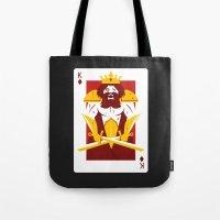 berserk Tote Bags featuring King of Diamonds - Berseker King by Thirdway Industries Shop