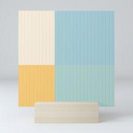 Color Block Line Abstract III Mini Art Print