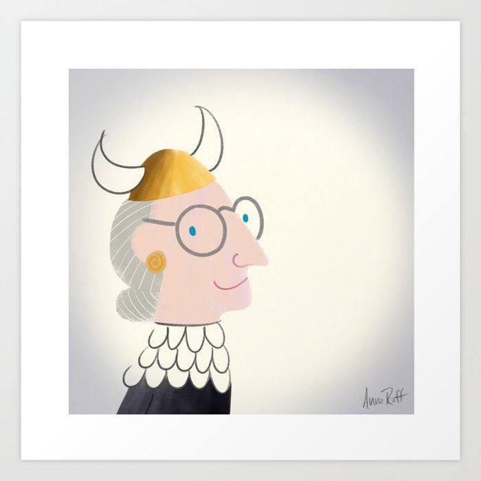 Ruth Bader Ginsburg Opera Lover Art Print