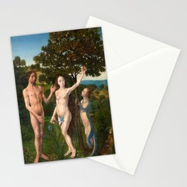 The Fall of Man and The Lamentation by Hugo van der Goes Stationery Cards