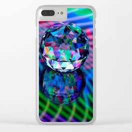 Colour of facets in glass. Clear iPhone Case