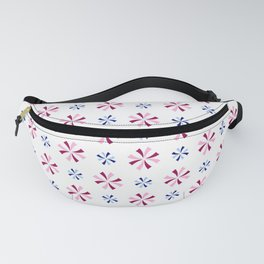 geometric flower 44 pink and blue Fanny Pack