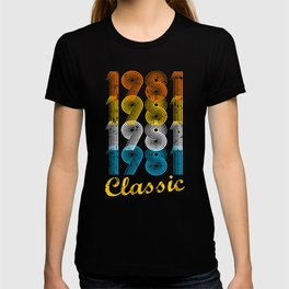 36th Birthday Gift Vintage 1981 T-Shirt for Men & Women T-Shirts and Hoodies T-shirt