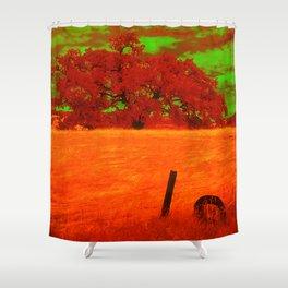 Sci-Fi Alien Countryside Shower Curtain