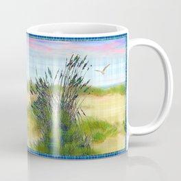 Plaid Beachscape with Seagrass Coffee Mug