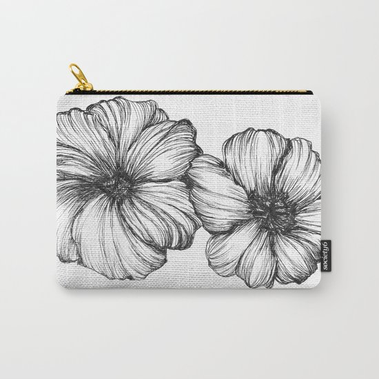 Floral Ink I Carry-All Pouch