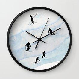 Skiing Hills Wall Clock