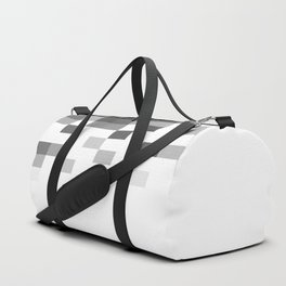 Gray Scale In Pixels Duffle Bag