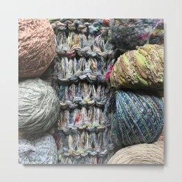 Knitter II Metal Print