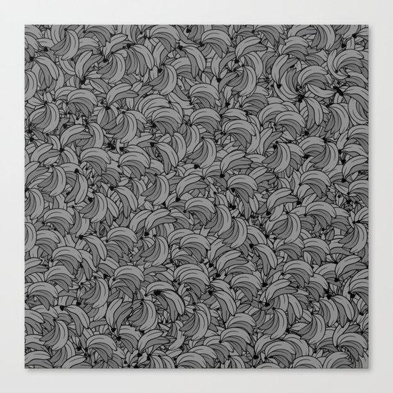 Plenty of Bananas - Gray Canvas Print