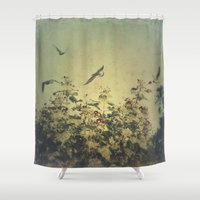 freedom Shower Curtains featuring Freedom by Victoria Herrera