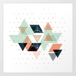 Midcentury geometric abstract nr 011 Art Print