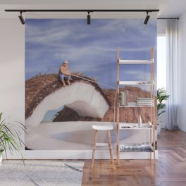Lone Fisherman Wall Mural
