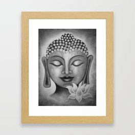 Buddha & Lotus 10 Framed Art Print