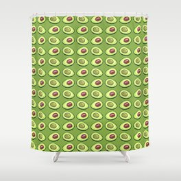 Avocado on green Shower Curtain