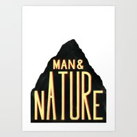 Man & Nature Art Print
