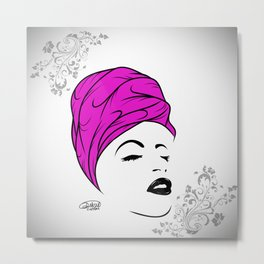 Lady Wrap (purple) Metal Print