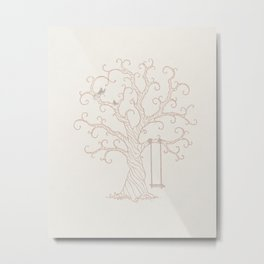 Guest Thumbprint Tree Metal Print