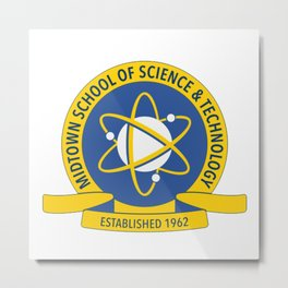 Midtown School of Science and Technology Logo Metal Print