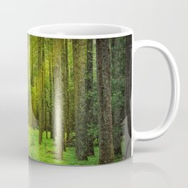 Gnome Traveler on a Forest Path Coffee Mug