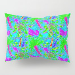 Carrot, Beet + Radish Medley in Neon Blue Pillow Sham