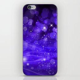 Whimsical Purple Glowing Christmas Sparkles Bokeh Festive Holiday Art iPhone Skin