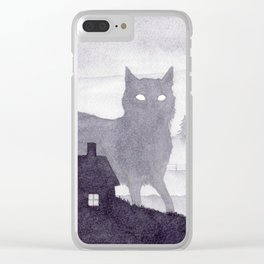 The Evening of Giant Cats Clear iPhone Case