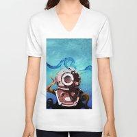 diver V-neck T-shirts featuring Diver by Tony Vazquez