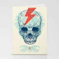 dude Stationery Cards featuring Skull Bolt by Rachel Caldwell