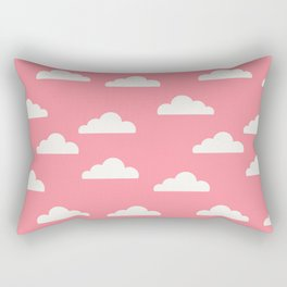 Clouds Pink Rectangular Pillow
