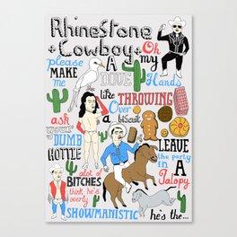 Illustrated song lyrics Canvas Print