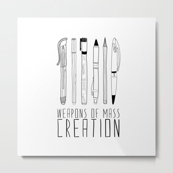 weapons of mass creation Metal Print
