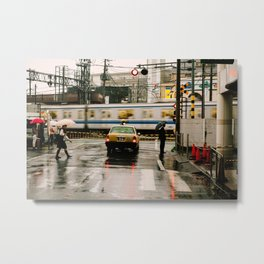 Rainy Day in Tokyo Metal Print