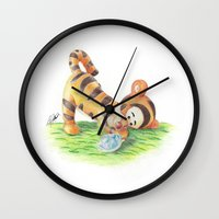ninja turtle Wall Clocks featuring Baby Tigger and Ninja Turtle by lilypencilfeed
