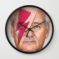 murray Wall Clocks featuring bill murray by lapinette