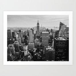 Black & White NYC Skyline Art Print