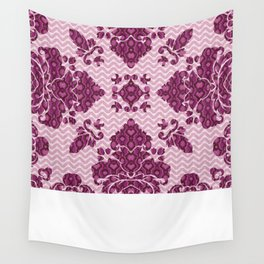 Python Lace Fantasy in Pink Wall Tapestry