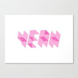 YEAH Canvas Print